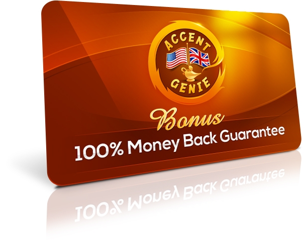 Accent Genie Money Back Guarantee